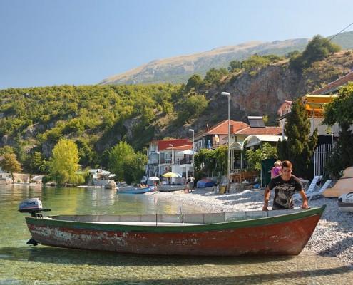 Frokost i Trpejca Ohridsøen Makedonien