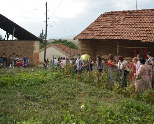 Bryllup i landsby i Ohrid Makedonien