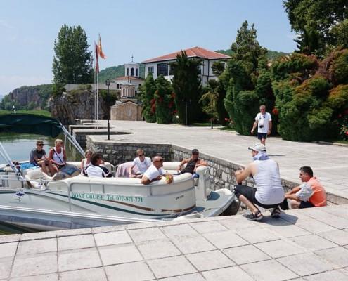 Sommerferie i Makedonien Bådtur med Katamarin En dag på Ohridsøen