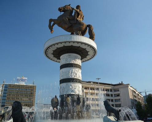 Alexander den store Skopje Makedonien