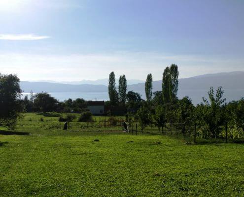 Ohrid landsby makedonien
