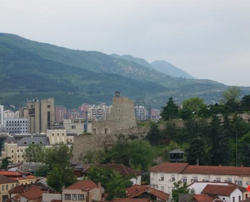 Storbyferie Skopje Makedonien udsigt over Skopje