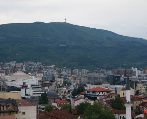 Storbyferie Skopje Makedonien udsigt til bjerget Vodno