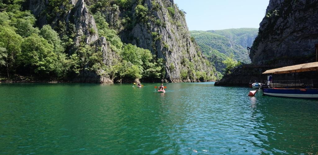 Kajak Matka Canyon Skopje Makedonien
