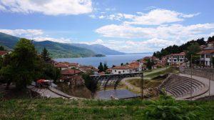 Det antikke teater Ohrid Makedonien