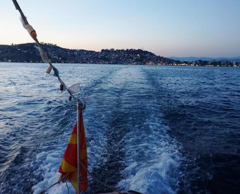 Cruising på Ohridsøen
